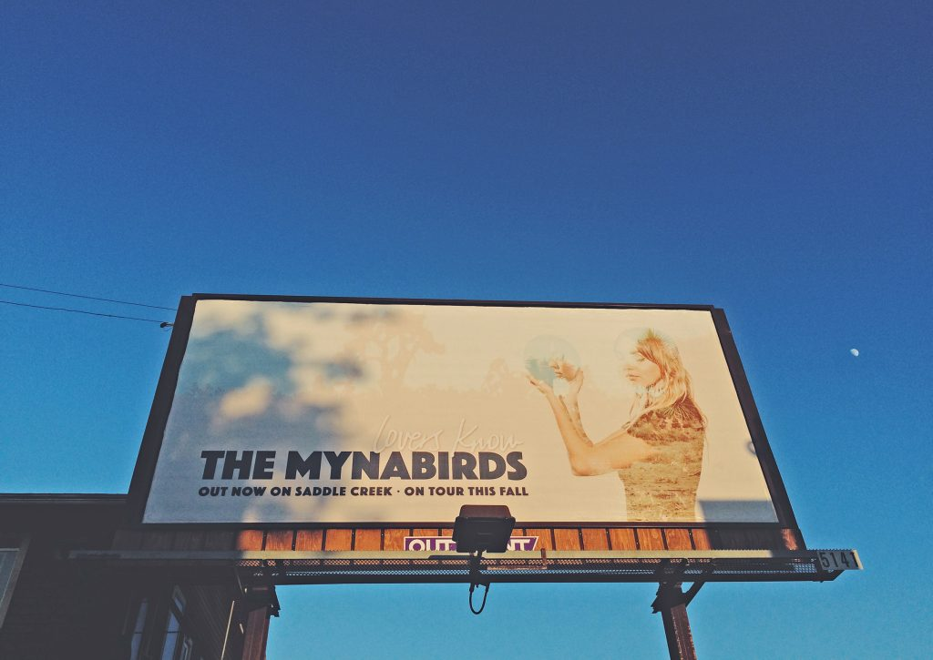 The Mynabirds - Lovers Know - billboard photo