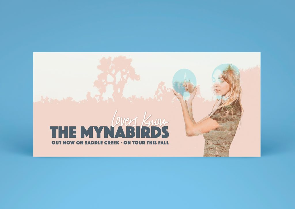 The Mynabirds - Lovers Know - billboard design