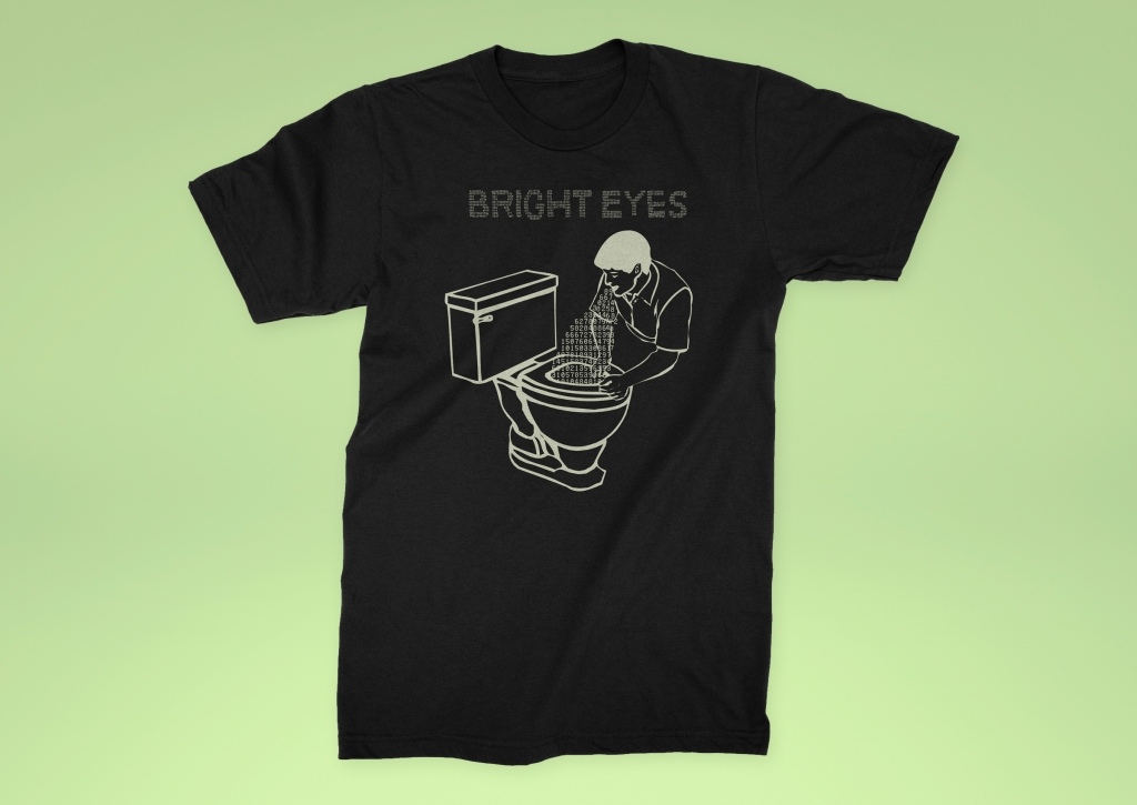 Bright Eyes - Digital Ash in a Digital Urn t-shirt design