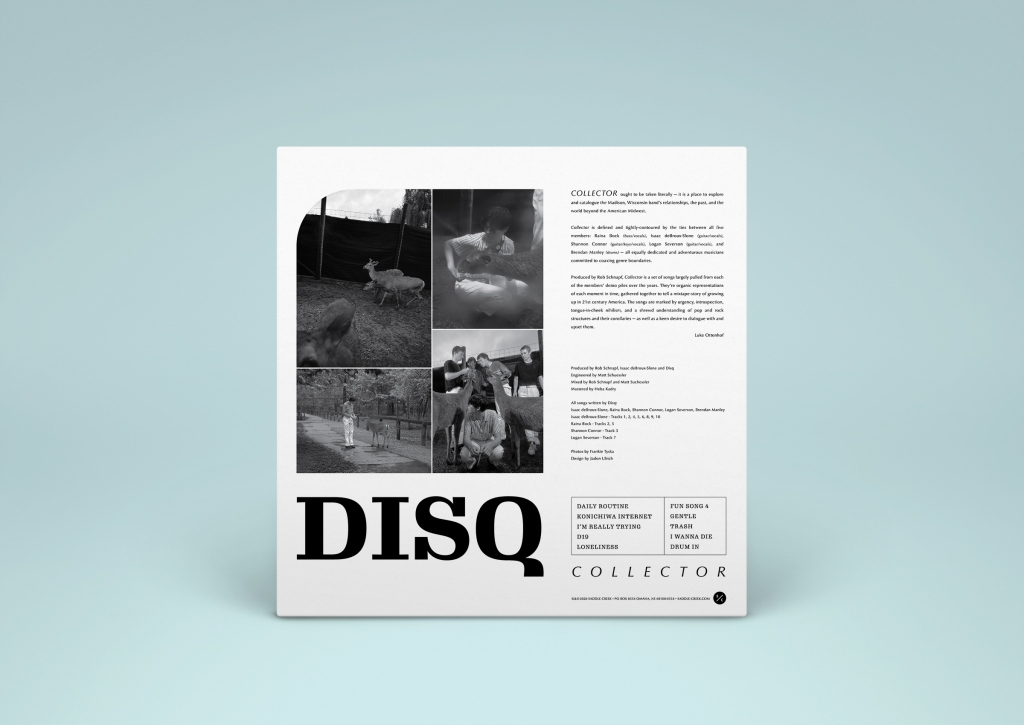 Disq - Collector - LP packaging design back view