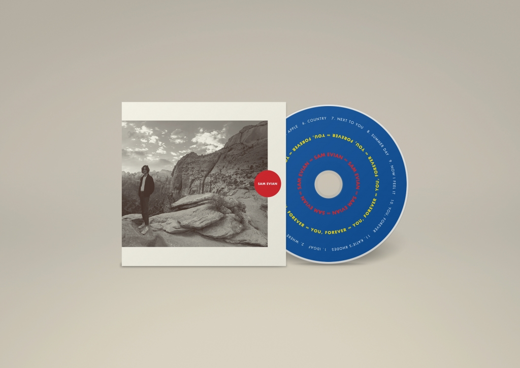 Sam Evian - You, Forever CD packaging design