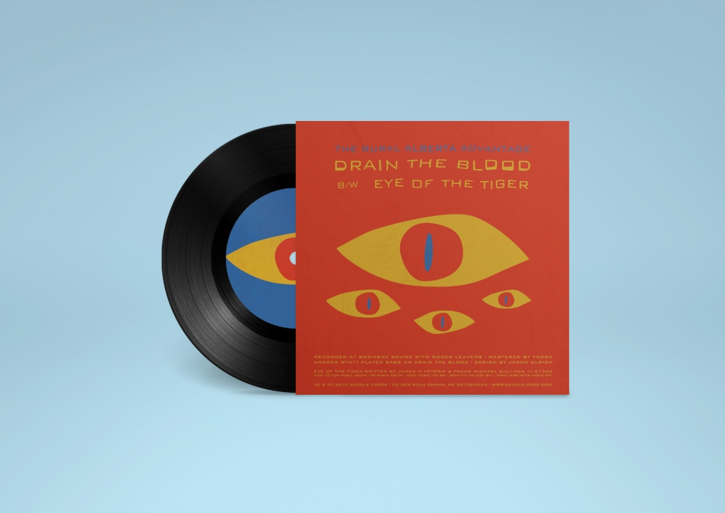 The Rural Alberta Advantage - Drain the Blood - 7 inch design